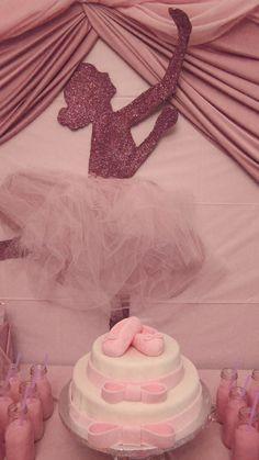 """Photo 14 of Ballet / Birthday """"Glittery Ballerina Party"""" Ballerina Birthday Parties, Ballerina Party, Glitter Backdrop, Ballerina Cakes, Tutu Party, Party Printables, Free Printables, Princess Party, Party Time"""
