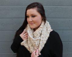 THE BOSTONIAN •• chunky infinity scarf, soft infinity scarf, cream infinity scarf, cirlce scarf