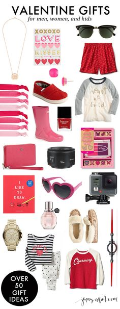 A round up of the best Valentine gifts for men, women, and kids.