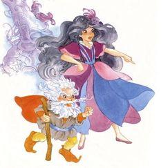 Duchess RavenWaves plotting against Lady LovelyLocks. Lady Lovely Locks, Disney Characters, Fictional Characters, Aurora Sleeping Beauty, Disney Princess, Cartoons, Animated Cartoons, Cartoon, Comic Book