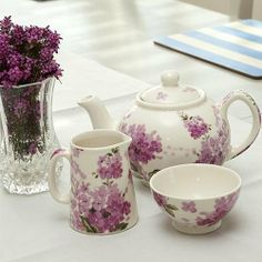 ٠•●●♥♥❤ஜ۩۞۩ஜஜ۩۞۩ஜ❤♥♥●   Shannonbridge Lady Pink 3-piece Teaset  ٠•●●♥♥❤ஜ۩۞۩ஜஜ۩۞۩ஜ❤♥♥●