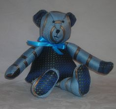 Charley. He is made from 2 silk fabrics. www.facebook.com/TBearspicnic