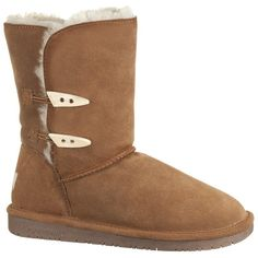 "Buy BEARPAW® Abigail 8"" Toggle Boots - This adorable boot has a comfy inside with a sheepskin lining and rubber grip sole. The suede outside is beautiful. Cute…"