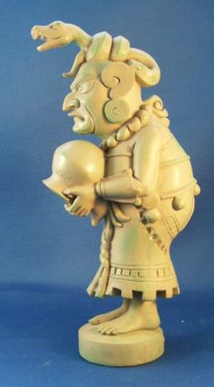 Crone Ixchel (side view) - Mayan Crone Goddess of the Tiger's Claw. Associated with the sign Aquarius.