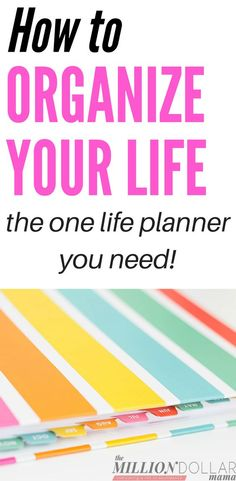 How to organize your life planner | How to organize everything in your life | Ideas how to organize your life