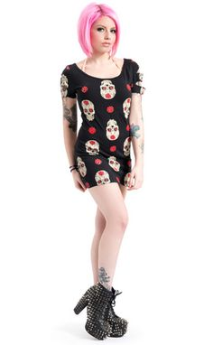 Day of the Dead T-Dress Price: £9.99