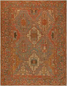 Antique Persian Baktiari Rug BB5736