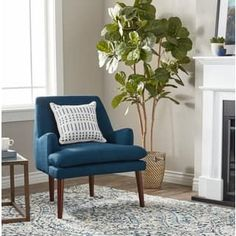 Restaurant Chairs For Sale Wooden Dining Room Chairs, Living Room Chairs, Living Room Furniture, Wingback Accent Chair, Tufted Chair, Chair Cushions, Outdoor Beds, Outdoor Lounge, Blue Accent Chairs