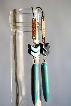 Boucles d'oreilles de turquoise du Sud-Ouest par SPARKLEFARM
