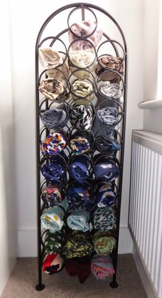 Wine rack as scarf storage? Sounds right up my alley!