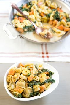 Recipe: Creamy Skillet Tortellini with Sweet Potato and Spinach — 5 Skillet Recipes from Casey Barber