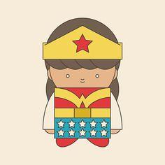 Little+Wonder+Woman+by+mintparcel+on+Etsy,+$6.00