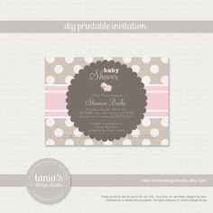 Little Lamb Printable Baby Shower Invitation by tania's design studio on Etsy, $15.00