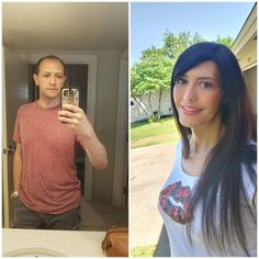 I still can't believe how much someone can change in yrs! HRT to 13 months HRT. Transgender Transformation, Male To Female Transformation, Male To Female Transition, Mtf Transition, Male To Female Transgender, Transgender Girls, Mtf Before And After, Stunningly Beautiful, Role Models