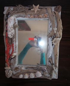 Mirror with Frame with Sea Shells & Driftwood  from Jeffreys Bay Beach | bidorbuy.co.za Driftwood, Sea Shells, Mirrors, Beach, Frame, Home Decor, Picture Frame, Decoration Home, The Beach
