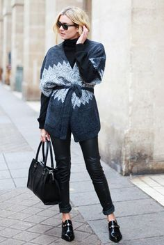 Day 12: Layer a fitted turtleneck under a top with a plunging neckline. via @WhoWhatWear