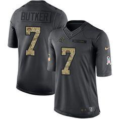 Youth Nike Carolina Panthers #7 Harrison Butker Limited Black 2016 Salute to Service NFL Jersey