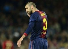 Barcelonas defender Gerard Pique reacts in Barcelona on May 1, 2013