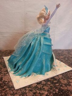 Elsa doll cake by GTBiscuit