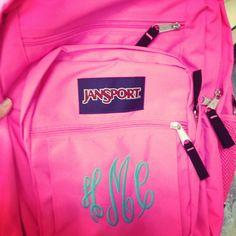 Monogrammed Jansport Backpack
