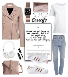 """""""Dress Chic on Your Day Off..."""" by glamorous09 ❤ liked on Polyvore featuring Lemaire, IRO, Casetify, adidas, Vetements, ECCO, Frends, Bobbi Brown Cosmetics, Ray-Ban and Jimmy Choo"""