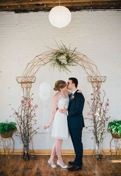 Artfully intricate and natural wedding arbor // Nina Lily Photography