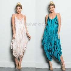 New Harem Oversized jumpsuit dress ombré loose fit ❌PLEASE DON'T BUY THIS LISTING, COMMENT ON SIZE NEEDED FOR SEPARATE LISTING. PRICE IS FIRM UNLESS BUNDLED ❌.  New retails.Harem tie dye jumpsuit dress. Spaghetti straps.oversized loose fit dress..Very comfy and super sexy. Fabric content 95% Rayon and 5% spandex ...Only blue/black..Small medium and large. BOUTIQUE Pants Jumpsuits & Rompers