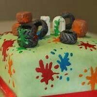Paintballing cake