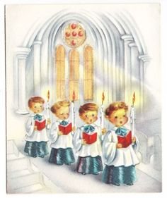 vintage cards with choir boys - Google Search