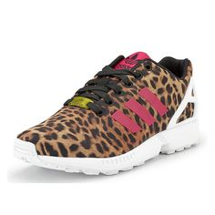 san francisco 5f5a9 81322 A girl can never have too many statement kicks! Adidas Originals is doing  amazing things. Adidas Zx Flux LeopardLeopard Print TrainersAdidas ...