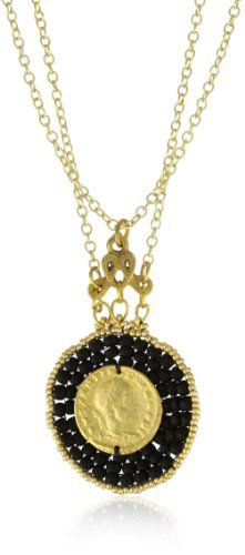 """TAT2 Designs """"St. Tropez"""" Black and Gold Glass Bead, Gold Co"""