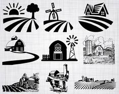 Check out our Cricut selection for the very best in unique or custom, handmade pieces from our paper, party & kids shops. Silhouette Clip Art, Beautiful Farm, Wood Burning Patterns, Farm Barn, Silhouette Studio Designer Edition, Vinyl Cutting, Printable Designs, Cricut Design, Cutting Files