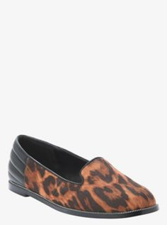 """Quilted Leopard Print Loafers (Wide Width) - a very """"me"""" shoe"""