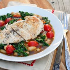 Chicken Abruzzi with Kale and Tomatoes