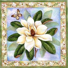 white flower & butterfly