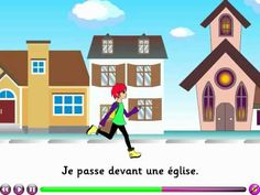 Quand je vais à l'école - French song to learn the places in town - from LanguageNut