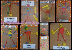 Des petits bonhommes                                                                                                                                                                                 Plus Kindergarten, Brain Gym, Petite Section, Nursery Art, Learning Activities, Art For Kids, Portrait, Artist, Cycle 1