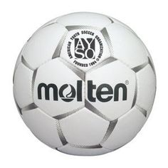 Molten PF-160 AYSO Competition Soccer Ball (Silver/White, Size 5) by Molten. $27.95. Constriction: Hand Cross-Stitched 4-Ply Lamination. Circumference: 26.8 - 28.0 in. Weight: 13.9 - 15.9 oz.. Cover: Hand Cross-Stitched 4-Ply Lamination. Bladder: Premium high density latex bladder Colors: Black - Silver. Official Game Ball of The American Youth Soccer Organization - AYSO. The Molten Competition PF-160 AYSO Soccer Ball unites the highest quality materials with innovation and...