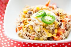 Slow Cooker Chicken, Beans and Rice (1 cup = 235 calories, 386 mg sodium)