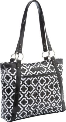 Toting my laptop around in style! Kailo Chic Women's Pleated Laptop Tote - EXCLUSIVE COLOR Black