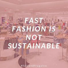 "Question! Where are you buying your clothes when it's time to shop for you & your family? ⠀ Make it a priority to end your relationship with fast fashion. To learn more about the humanitarian and environmental impact of fast fashion, watch ""The True Cost"" on Netflix!"