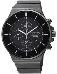 Seiko Seiko Chronograph SNDD83 Men's Black Steel Watch