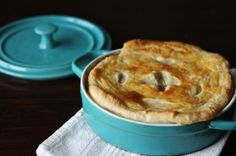 this sounds yummy - a mushroom pot pie. i'll have to experiment with a gluten free crust.