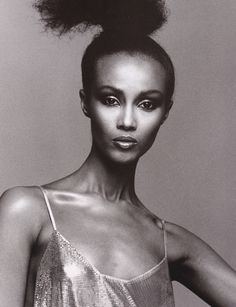 Somalian model Iman first came into the modeling world in the mid 70's. Description from elle.co.za. I searched for this on bing.com/images
