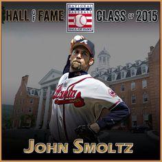 "By @mlb ""3,084 Ks. 15 #postseason wins. 1 Cy Young Award. The wins AND the saves. IMMORTAL. #HOF2015 electee, John Smoltz | #MLB #Baseball #HallOfFame"