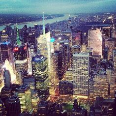 View from the Empire State Building - New York tour 2015
