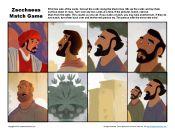 Sunday School Match Game - Zacchaeus Met Jesus
