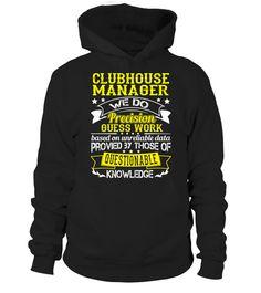 CLUBHOUSE MANAGER  #tshirts #tshirtdesign #tshirtteespring #tshirtprinting #tshirtfashion