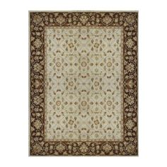 Found it at Joss & Main - Elmwood Ivory/Brown Area Rug
