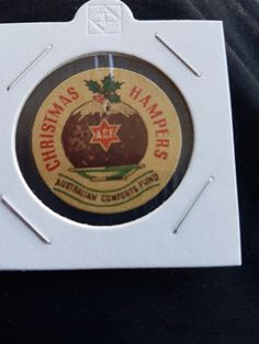 Christmas Hampers badge. Australian Comforts Fund.